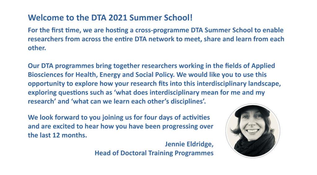 DTA Summer School 2021 - Programme