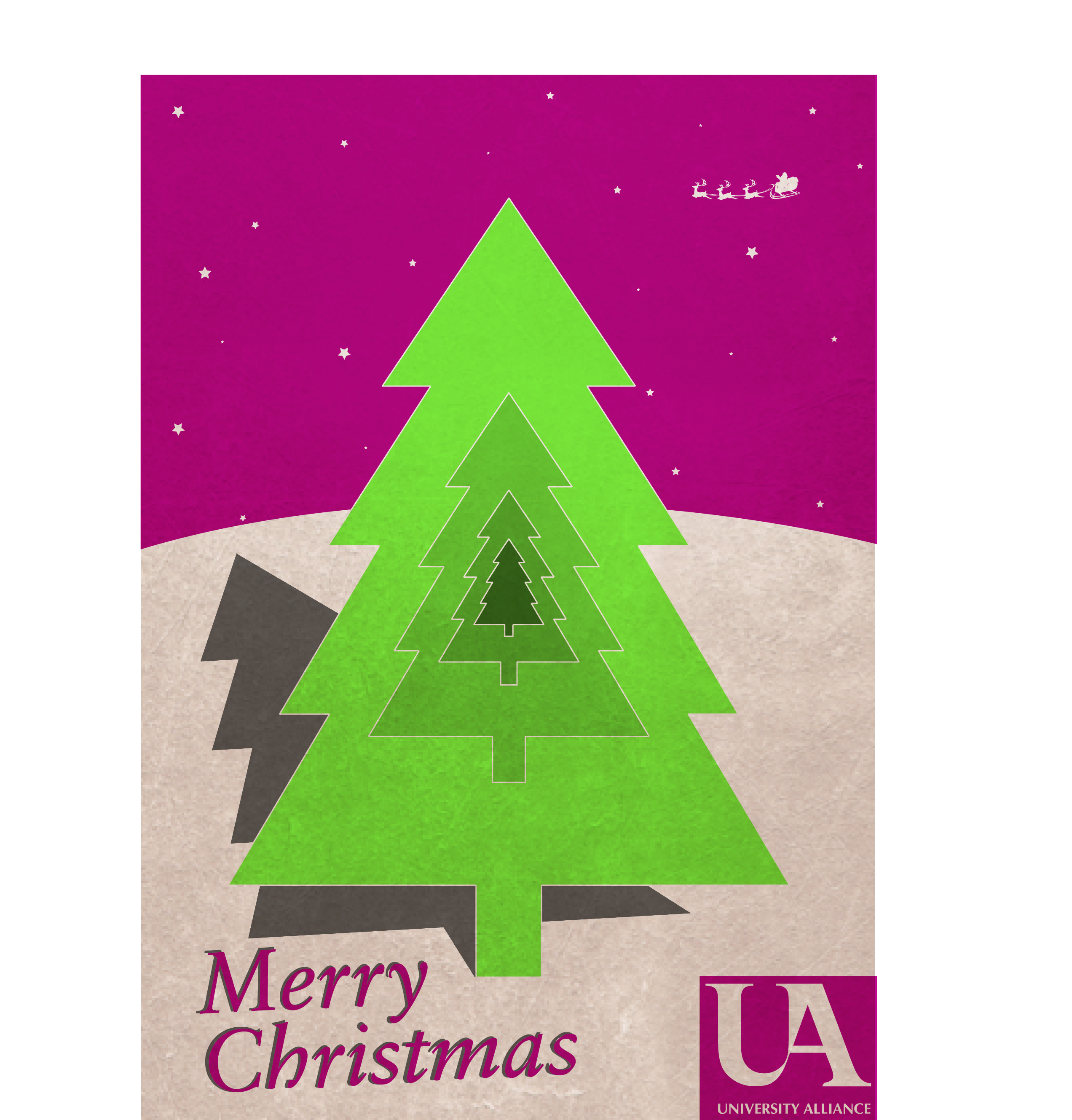 Congratulations to the winner of our Christmas card design ...