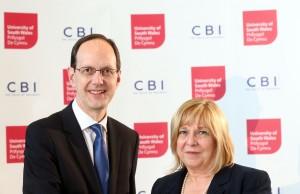 Julie Lydon and John Cridland, CBI Director-General