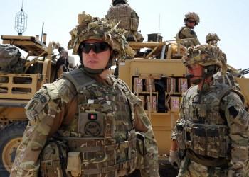 RAF Reiment Soldiers on Patrol Near Camp Bastion