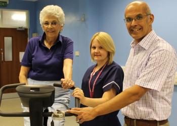 Patient taking part in pre-op test trial