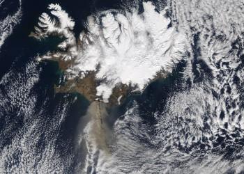image eruption of eyjafjallajokull by Nasa Goddard Space Flight
