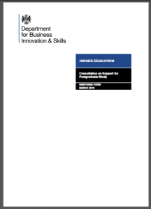 BIS Consultation on support for Postgraduate Study