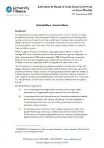 UA submission HOL Social Mobility