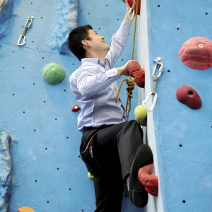 International, Chinese students at Climbing Wall, Olympia Building