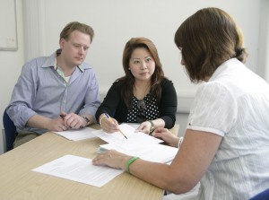 Law students volunteer at a free clinic to help advise people on a wide range of legal problems.