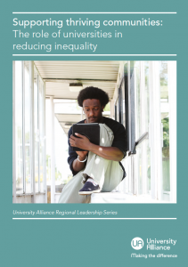 Supporting thriving communities universities reducing inequalities front cover