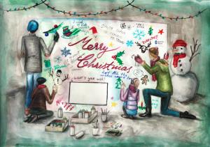 Diana Cirlig, winner of UA Christmas card design competition 2016