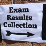 Exam Results sign