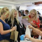Students receiving A-Level Results
