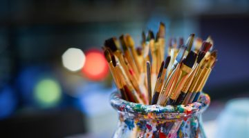 Jar of Paint Brushes